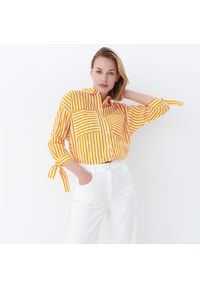 Mohito - Koszula w paski - Biały. Kolor: biały. Wzór: paski
