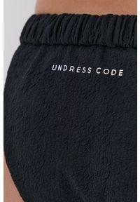 Undress Code - Figi kąpielowe Girlish Charm. Kolor: czarny. Materiał: poliamid, dzianina