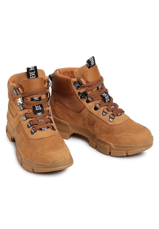 Brązowe buty trekkingowe Steve Madden z cholewką