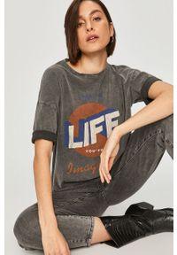 Szara bluzka Answear Lab na co dzień, z nadrukiem, wakacyjna #6