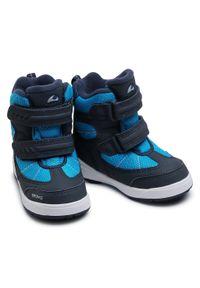 Niebieskie buty zimowe Viking z cholewką