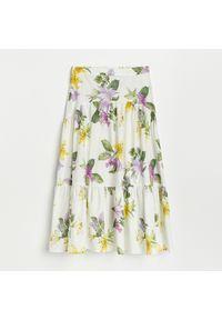 Reserved - Bawełniana spódnica midi - Wielobarwny. Materiał: bawełna