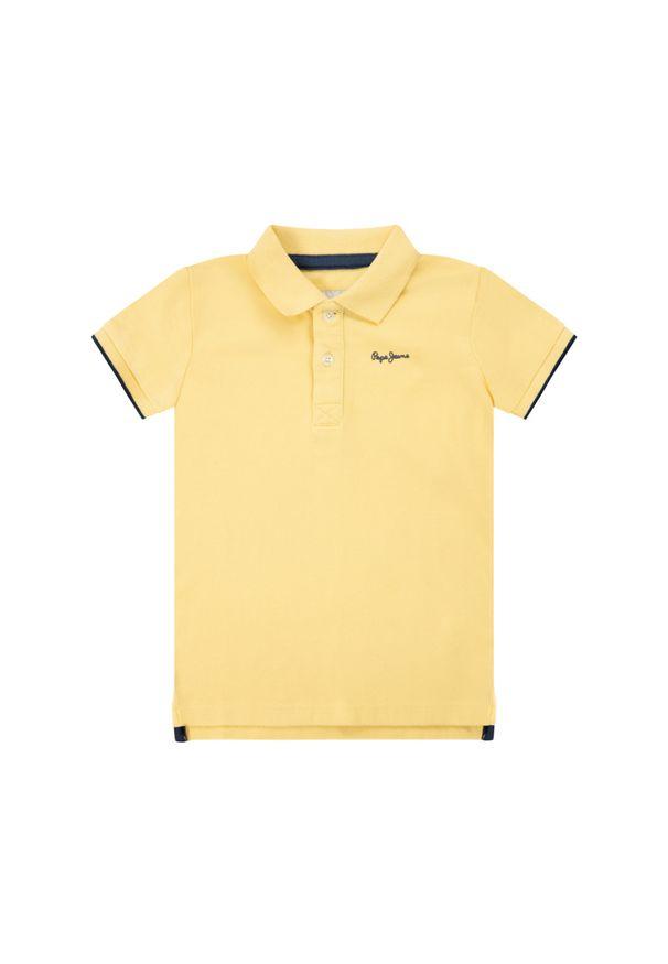 Żółty t-shirt polo Pepe Jeans polo