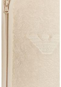 Biała bluza rozpinana Emporio Armani Underwear na co dzień, z kapturem, casualowa
