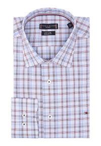 TOMMY HILFIGER - Tommy Hilfiger Tailored Koszula Check Reg MW0MW16448 Niebieski Regular Fit. Kolor: niebieski