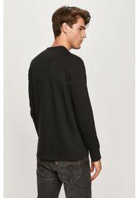 Czarna koszulka z długim rękawem Selected casualowa, na co dzień