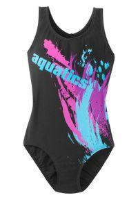 Czarny strój kąpielowy bonprix w kolorowe wzory