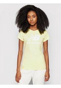 New Balance T-Shirt Essentials Stacked Logo Tee WT91546 Żółty Athletic Fit. Kolor: żółty