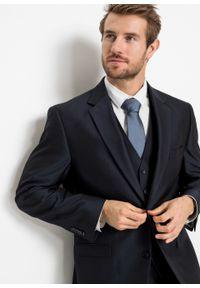 Garnitur 4-częściowy (marynarka, spodnie, kamizelka i krawat) bonprix ciemnoniebieski. Kolor: niebieski. Styl: elegancki #3