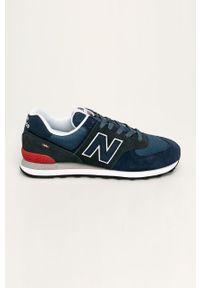 Niebieskie sneakersy New Balance z cholewką, New Balance 574