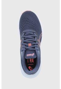 Asics - Buty Gel-Excite 8. Nosek buta: okrągły. Zapięcie: sznurówki. Kolor: niebieski. Materiał: guma. Sport: bieganie