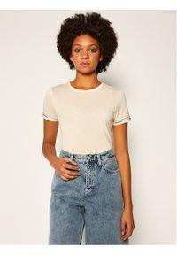 Calvin Klein T-Shirt Ss Logo Cuff K20K202134 Żółty Slim Fit. Kolor: żółty
