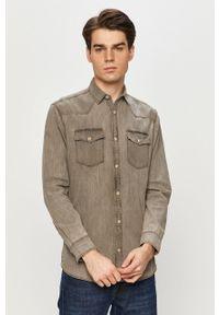 Szara koszula PRODUKT by Jack & Jones z klasycznym kołnierzykiem, na co dzień, casualowa