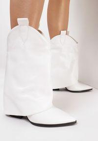 Białe botki na obcasie Born2be #6