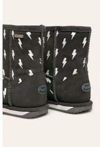 Szare buty zimowe EMU Australia z cholewką, na zimę