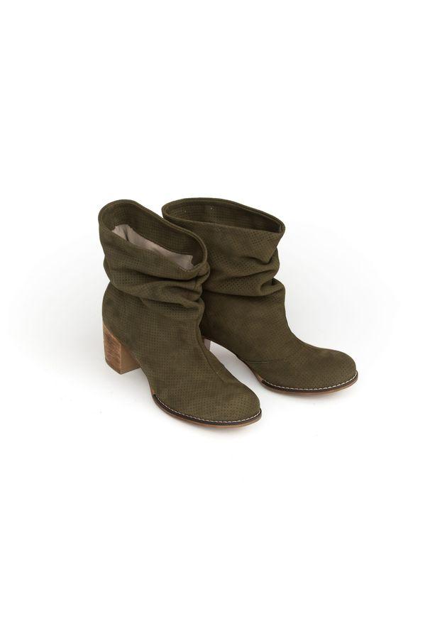 Botki Zapato z cholewką za kolano, wąskie, na spotkanie biznesowe