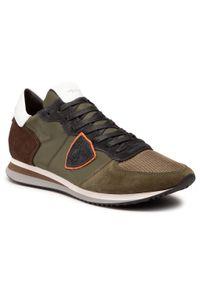 Zielone sneakersy Philippe Model z cholewką