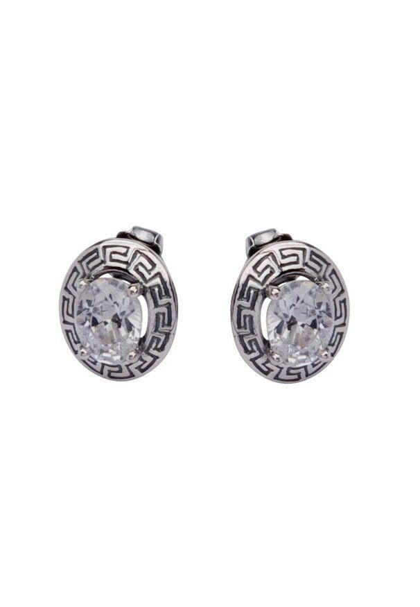 Polcarat Design - Kolczyki srebro cyrkonie K 1585. Materiał: srebrne. Kamień szlachetny: cyrkonia