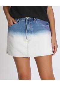 ONETEASPOON - Spódnica Dip Dye Vanguard. Kolor: biały. Materiał: bawełna, jeans. Wzór: nadruk, aplikacja