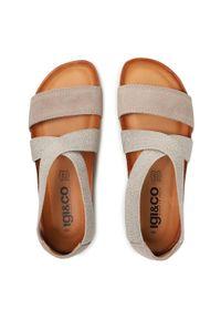Szare sandały Igi & Co casualowe, na co dzień