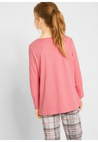 Różowa bluzka bonprix z długim rękawem, długa