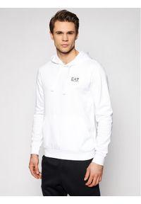 EA7 Emporio Armani Bluza 8NPM04 PJ05Z 1100 Biały Regular Fit. Kolor: biały