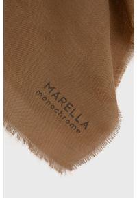 Marella - Szal. Kolor: beżowy. Materiał: tkanina