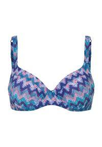 Cellbes Góra od bikini turkusowy Wzór zygzaka female niebieski/turkusowy/ze wzorem 70C. Kolor: turkusowy, niebieski, wielokolorowy