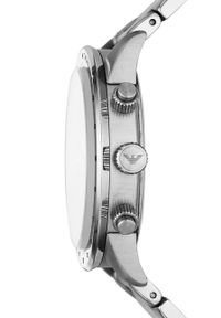Emporio Armani - Zegarek. Kolor: srebrny. Materiał: materiał