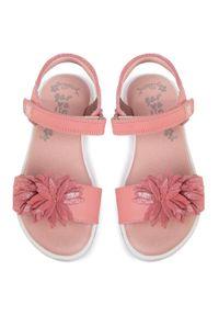 Różowe sandały Garvalin z aplikacjami, na lato