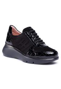Czarne buty sportowe Hispanitas z cholewką, na płaskiej podeszwie