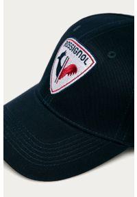 Niebieska czapka z daszkiem Rossignol z aplikacjami