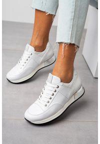 Białe buty sportowe Kati na co dzień, trekkingowe