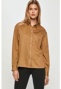 Brązowa koszula Marc O'Polo długa, z długim rękawem, casualowa