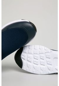 Niebieskie buty sportowe TOMMY HILFIGER z okrągłym noskiem, z cholewką