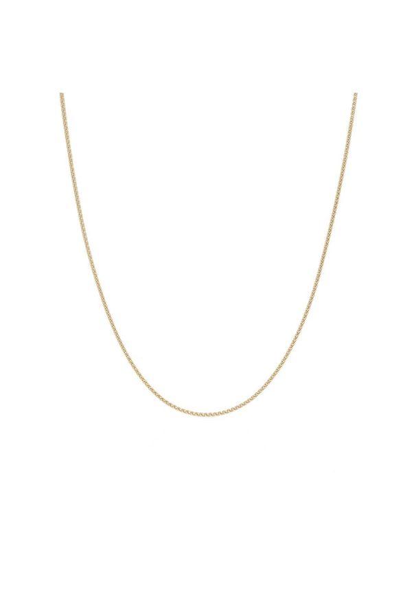 W.KRUK Złoty Łańcuszek - złoto 585 - ZVI/LW01. Materiał: złote. Kolor: złoty. Wzór: ze splotem, aplikacja