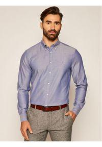 Tommy Hilfiger Tailored Koszula Oxford TT0TT07602 Granatowy Slim Fit. Kolor: niebieski