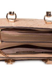 Brązowa torebka klasyczna Liu Jo zdobiona, z aplikacjami, klasyczna