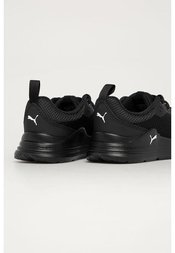 Czarne buty sportowe Puma z cholewką, na sznurówki