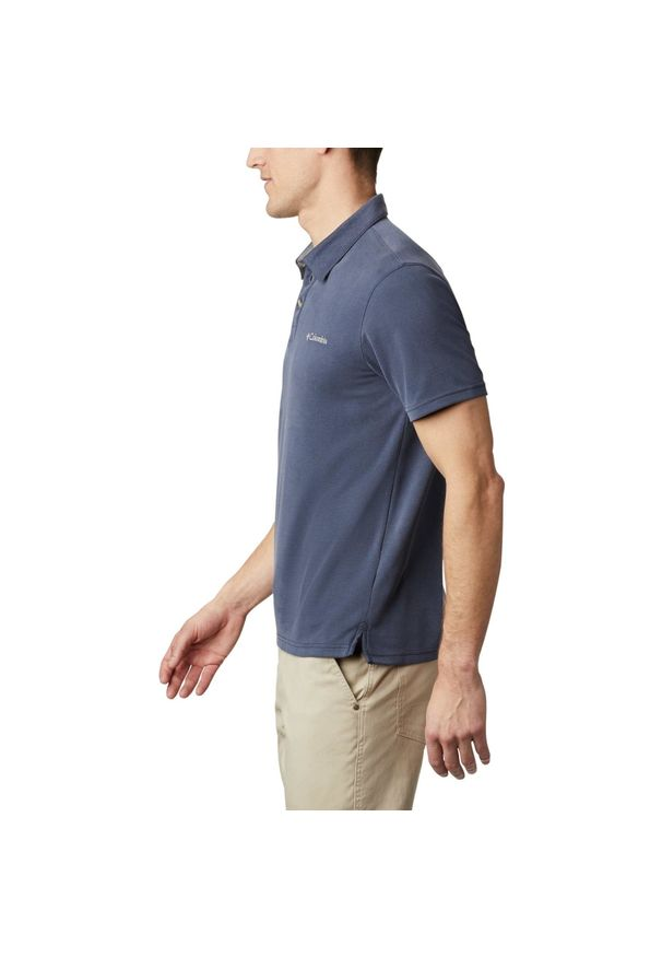 Niebieska koszulka sportowa columbia plus size, polo