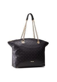 Czarna torebka klasyczna Pollini skórzana