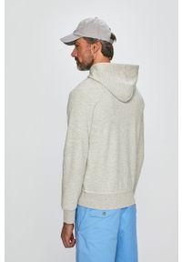 Szara bluza rozpinana Polo Ralph Lauren z nadrukiem, na co dzień, casualowa, z kapturem