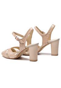 Złote sandały Sergio Bardi na co dzień, casualowe