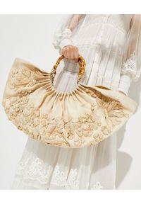 CULT GAIA - Beżowa torba Banu. Kolor: beżowy. Wzór: kwiaty, haft. Dodatki: z haftem