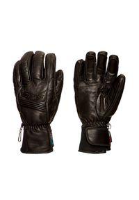 Czarna rękawiczka sportowa Ziener w kolorowe wzory, narciarska