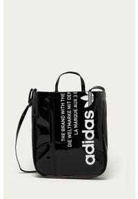 Czarna shopperka adidas Originals z nadrukiem, duża, na ramię