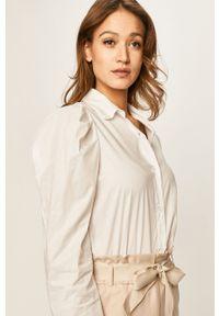 Biała koszula Haily's casualowa, z klasycznym kołnierzykiem, długa, na co dzień