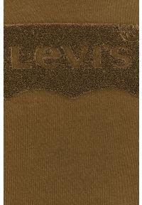 Levi's® - Levi's - Bluza. Okazja: na spotkanie biznesowe, na co dzień. Kolor: zielony. Materiał: dzianina. Wzór: aplikacja. Styl: casual, biznesowy