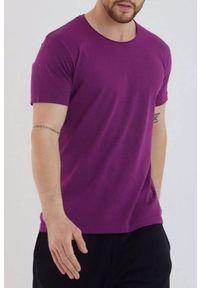 Fioletowy t-shirt IVET casualowy, na co dzień