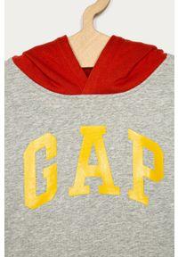 Szara bluza GAP casualowa, z kapturem, na co dzień